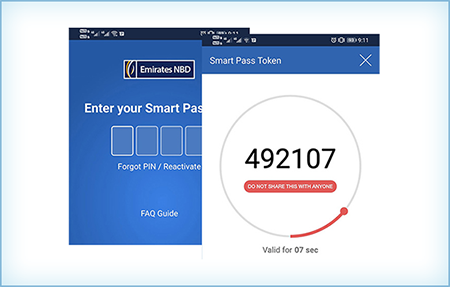 Sample Token Screen